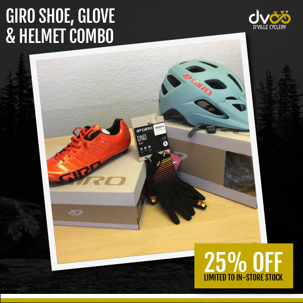 Giro Shoe, Glove And Helmet Combo