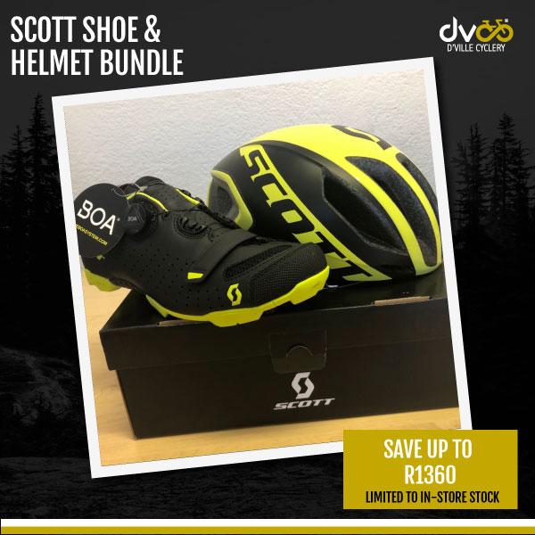 Scott Shoe And Helmet Bundle